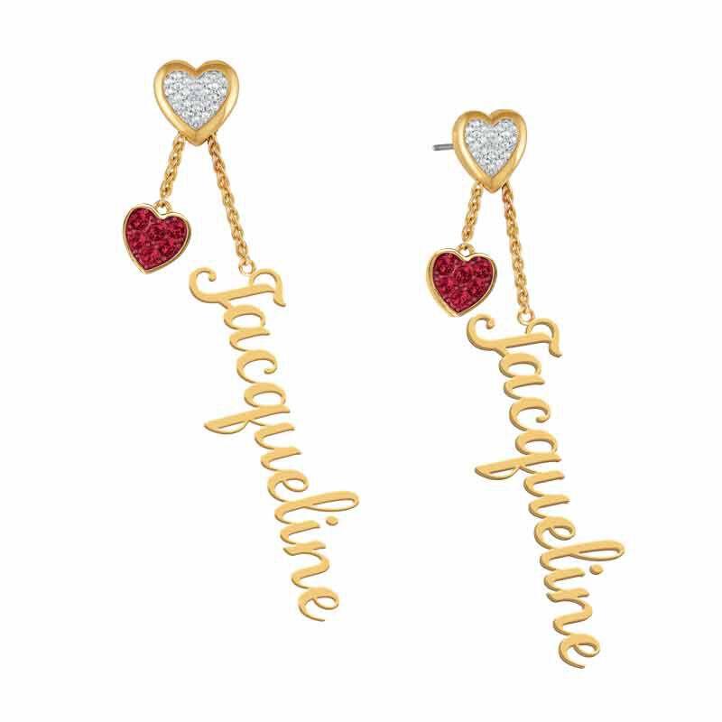 personalised birthstone earrings UK PBEAR b two