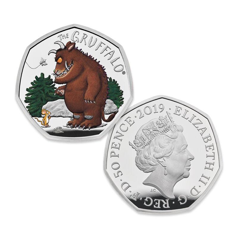 the gruffalo 50 pence silver proof set UK GRPS c three
