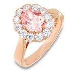 cor de rosa morganite 18ct rose gold pla UK CDRRPR a main