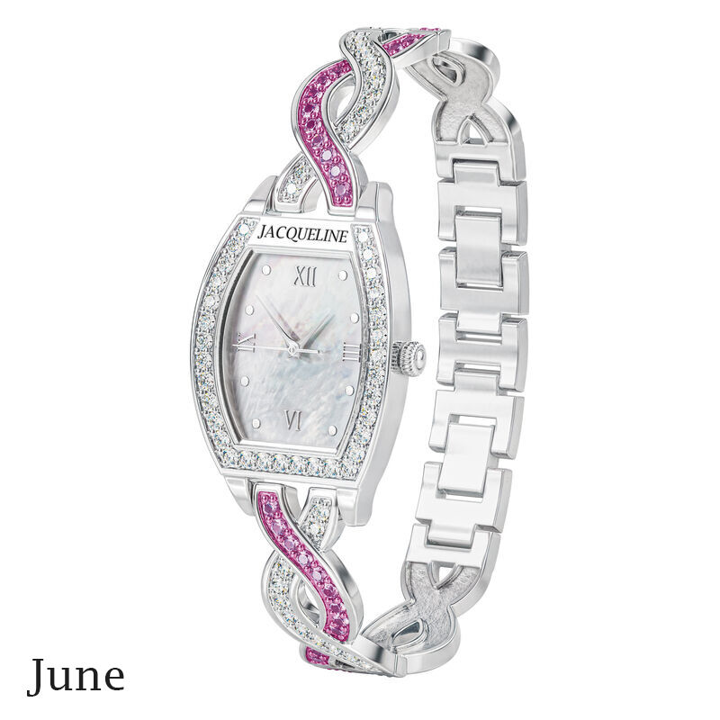 birthstone swirl bracelet watch UK BSWB f june