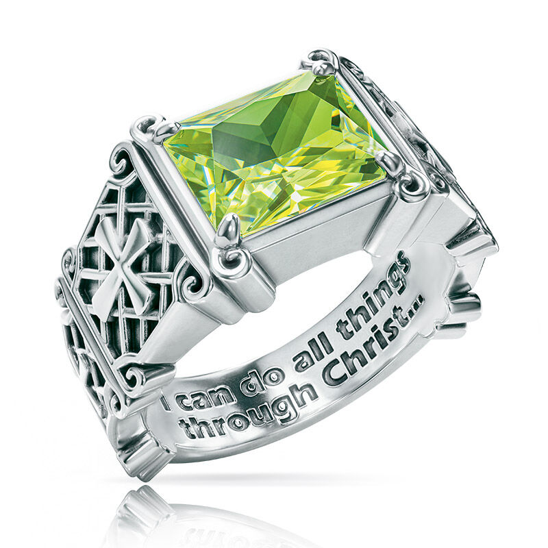 i can do all things birthstone ring UK ICDBR h eight