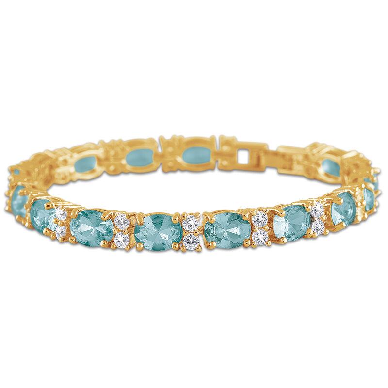 birthstone tennis bracelet UK BDTB2 m thirteen