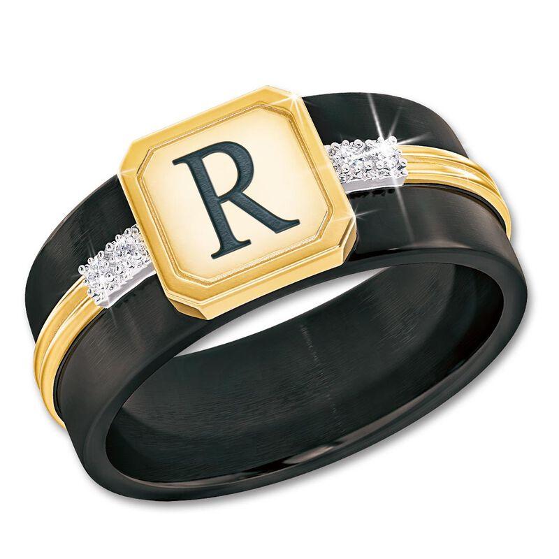 personalised diamond heritage mens ring UK PDHMR a main