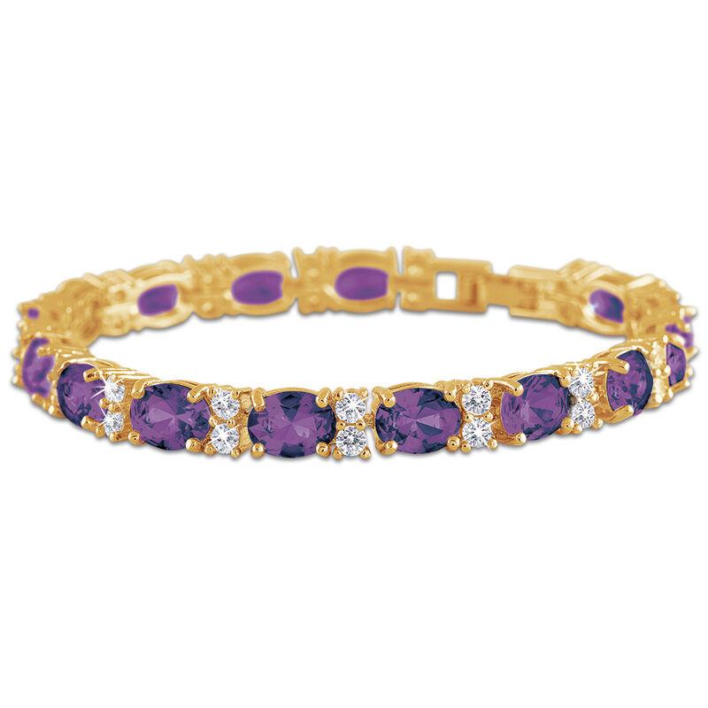 birthstone tennis bracelet UK BDTB2 g seven