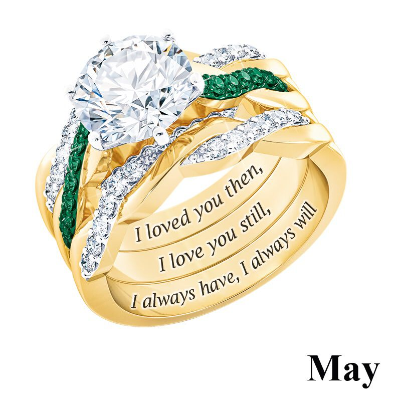 i still do birthstone ring set UK BSDRS g seven