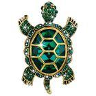 crystal turtle brooch UK CTUB a main