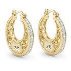 personalised golden hoops earrings UK PGHE a main