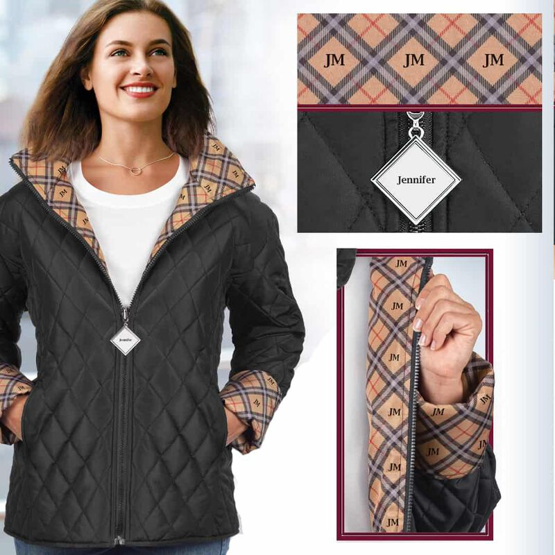 the checked quilted jacket UK PRCJ a main