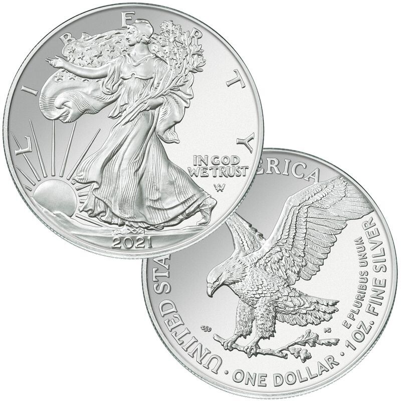 the 2021 first year flying american eagle silver dollar UK N21D a main
