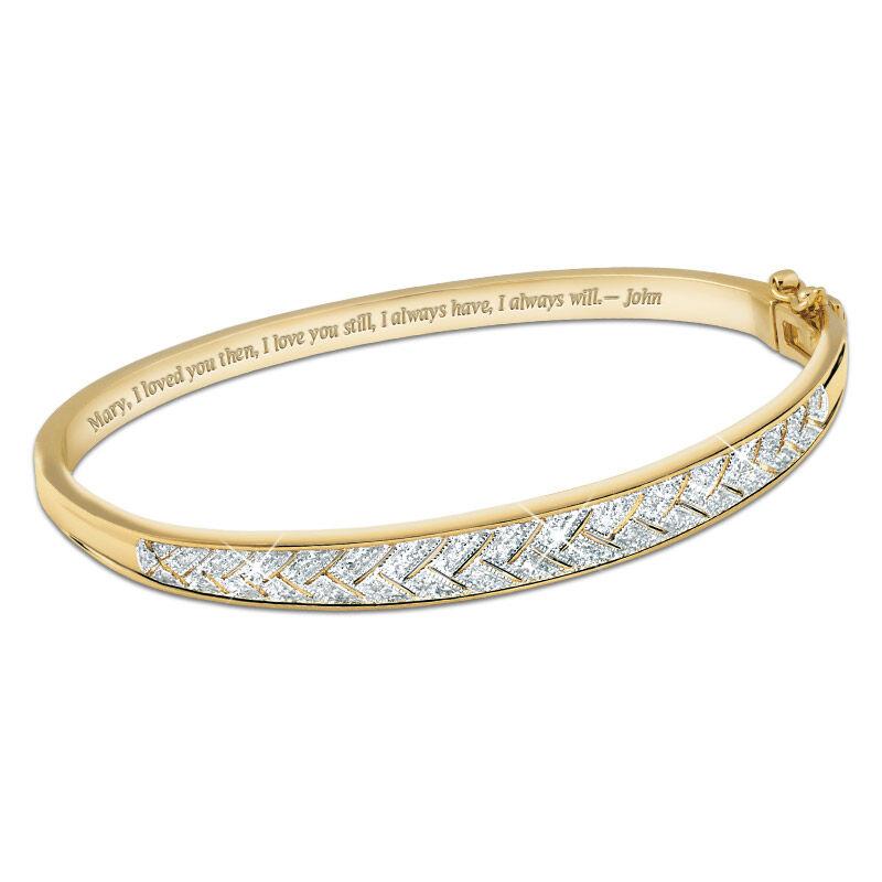 diamond blaze personalised bangle UK DBPB2 a main