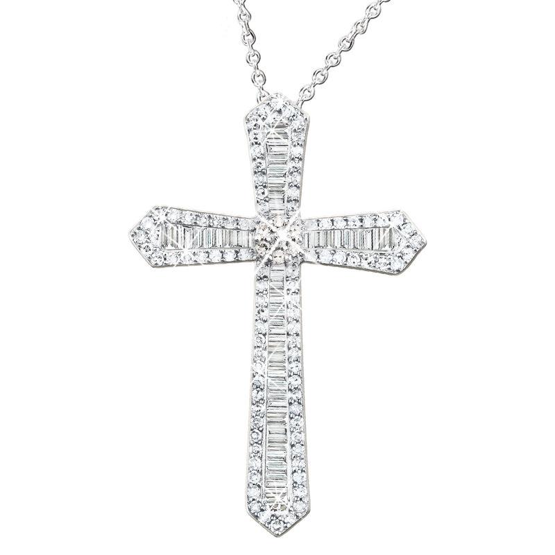 diamond devotion cross pendant UK DDCP a main