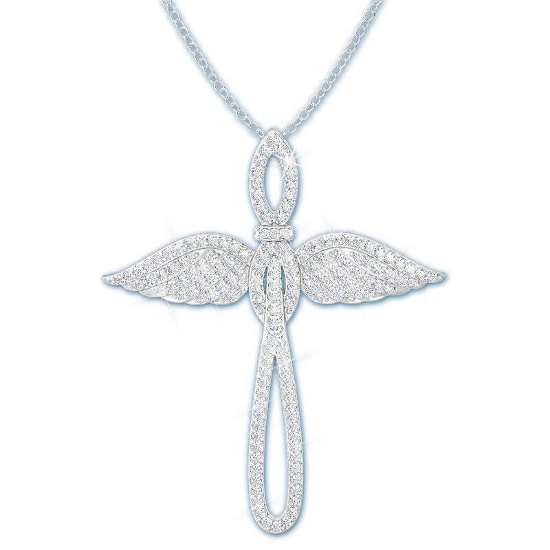 angel wings cross pendant UK ANCP a main