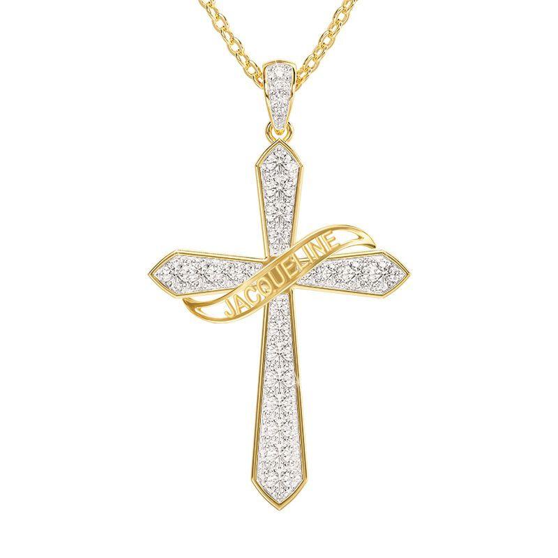 birthstone diamond personalised cross ne UK BSPCN m thirteen