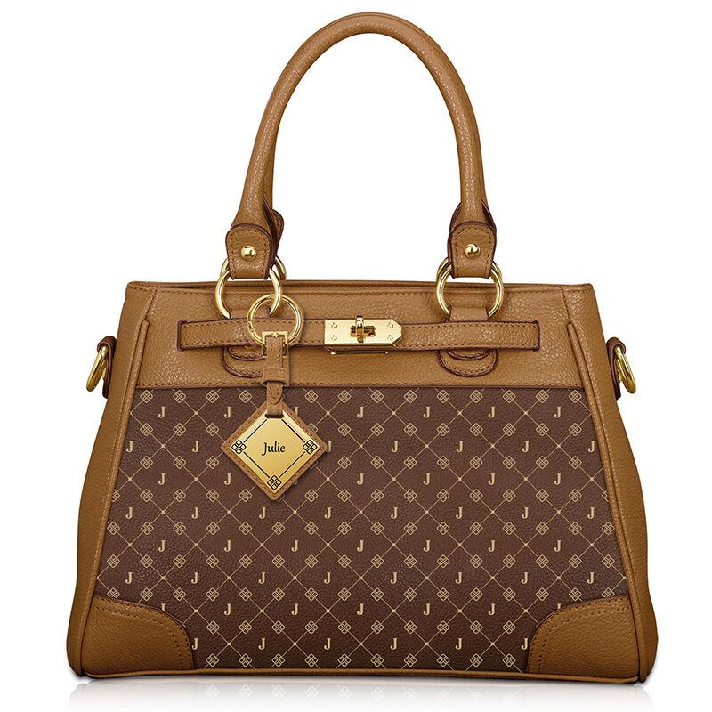 my personalised brown handbag UK IPBRS a main