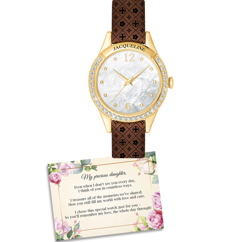 personalised daughter watch with card UK PDWC b two