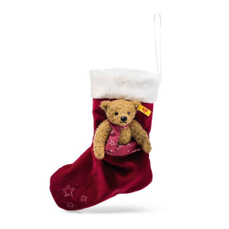 steiff teddy bear with christmas stockin UK STBBS a main
