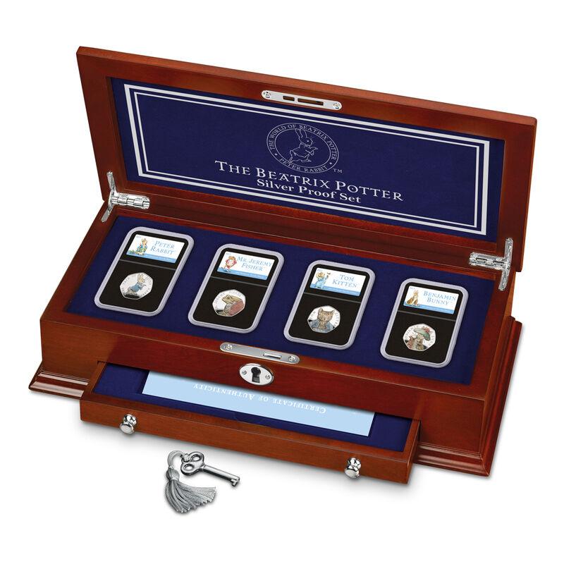 the 2017 beatrix potter silver proof set UK BPPS c three